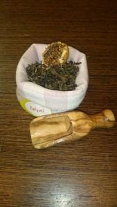 Magia verde es una mezcla de tés verdes Chun Mee y Yin Xiang