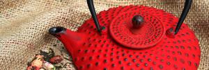 los colores de las teteras de hierro tetsubin, rojo es el más espectacular